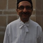 Parsi gentleman in traditional Parsi Dugli (coat) and Feto (hat)